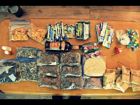 Food For A 9 Day Canoe Trip In Northern Ontario.