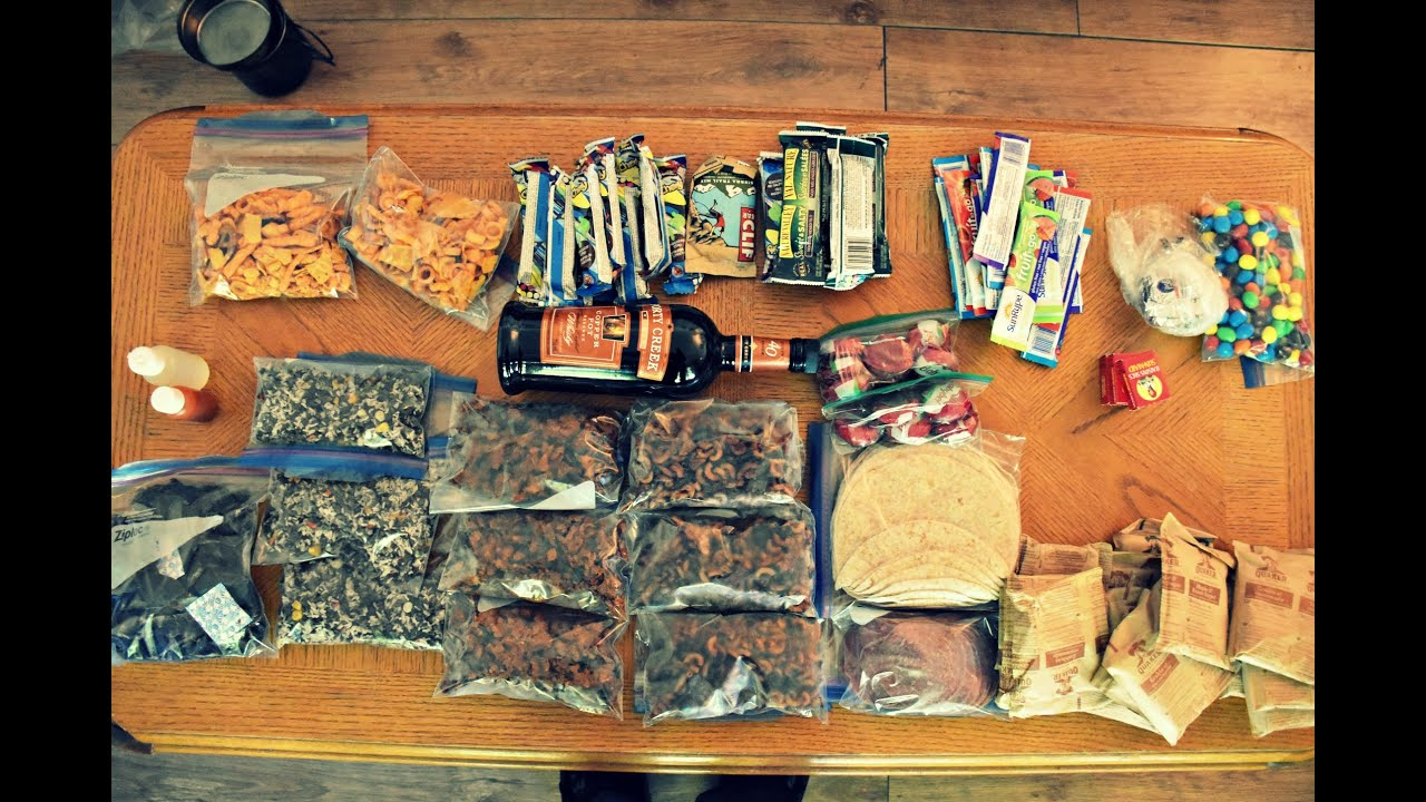 Food for a 9 Day Canoe Trip in Northern Ontario. - YouTube
