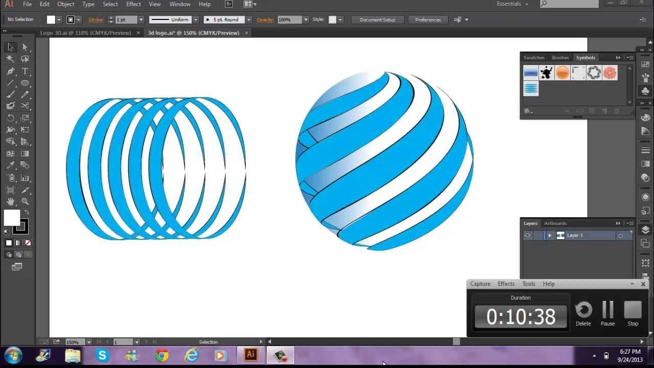 Tutorial adobe illustrator cc crear logo en 3d espa ol for Programa para crear muebles 3d