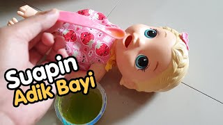 Suapin Adik Boneka Baby Alive | Mainan Anak Perempuan Baby Alive | Baby Alive Toys