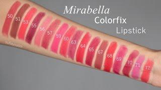 Cosmetics Review - Mirabella Colorfix Lipsticks | Local Beauty Product | suhaysalim