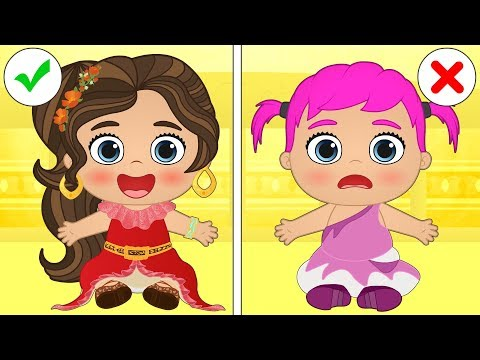 👶 Baby Alex and Lily 👶 Babies dress up as Disney Princesses | Cartoons for kids
