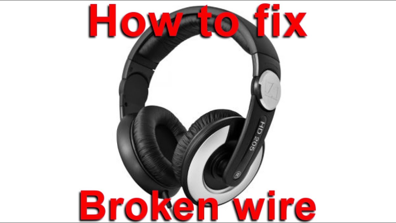 Sennheiser HD 205 Wire Replacement - YouTube