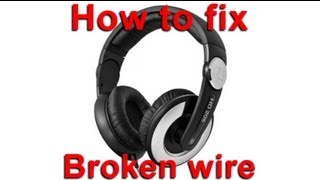 Sennheiser HD 205 Wire Replacement