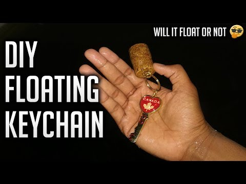 DIY Floating Keychain|Cork Hack