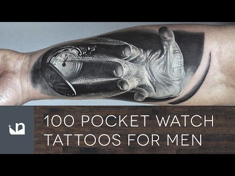 100 Pocket Watch Tattoos For Men