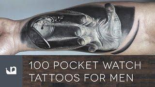 100 Pocket Watch Tattoos For Men