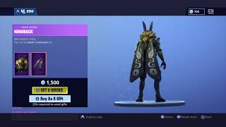 Fortnite NEW MOTHMANDO SKIN! ITEM SHOP UPDATE!