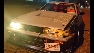 Drift car body make [ AE86 LEVIN 3door ] RC CAR 1/10 (YOKOMO) TA03F - PRO_RWD / kuso 86 project