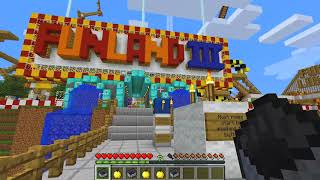chipmunks first time at theme park on minecraft