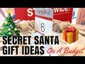 SECRET SANTA GIFT IDEAS (ON A BUDGET) - VLOGMAS | DAY 1