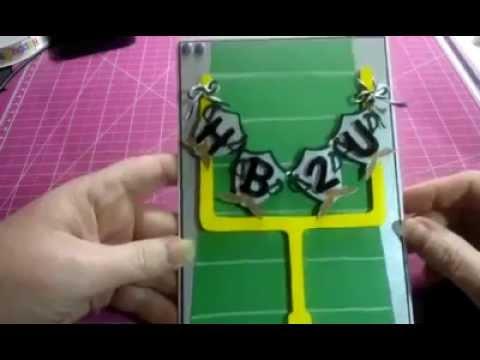 Football Themed Birthday Card Youtube