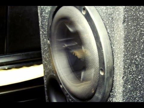 "Pioneer 10"" subwoofer huge bass!! TS-W2504SPL Custom build"