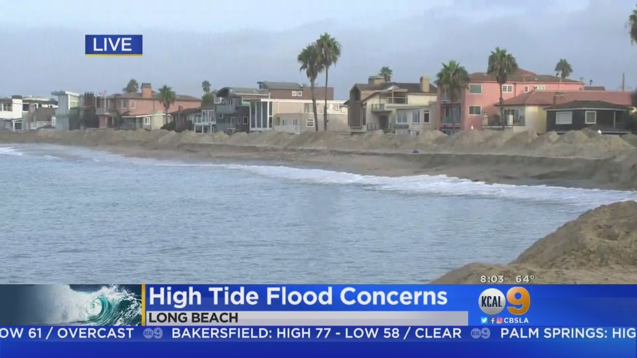 High Tide Causing Concern For Seaside Residents In Long Beach