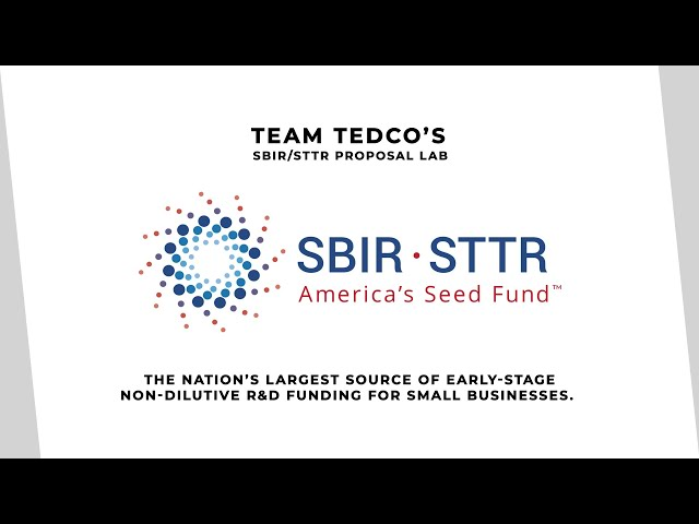 TEDCO's SBIR/STTR Proposal Lab (2021 Update)