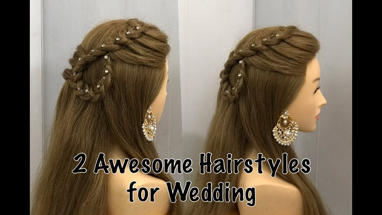 Beautiful Open Hairstyle For Wedding Or Party