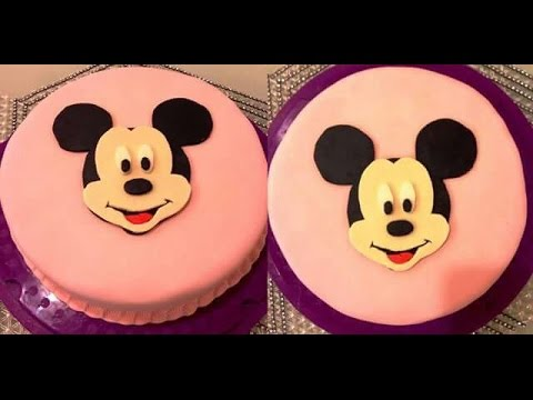 diy micky maus torte motivtorte geburtstagstorte micky mouse cake youtube. Black Bedroom Furniture Sets. Home Design Ideas