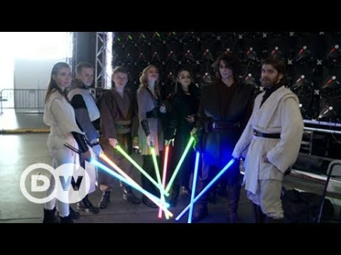 Training to be a Jedi at Moscow's lightsaber school | DW English