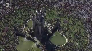 Barcelona. Manifestación por los presos. Imágenes aéreas 2