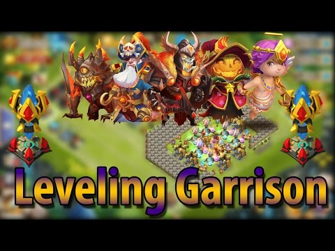 (F2P) Leveling Up Garrison For HBM-AA! -CASTLE CLASH
