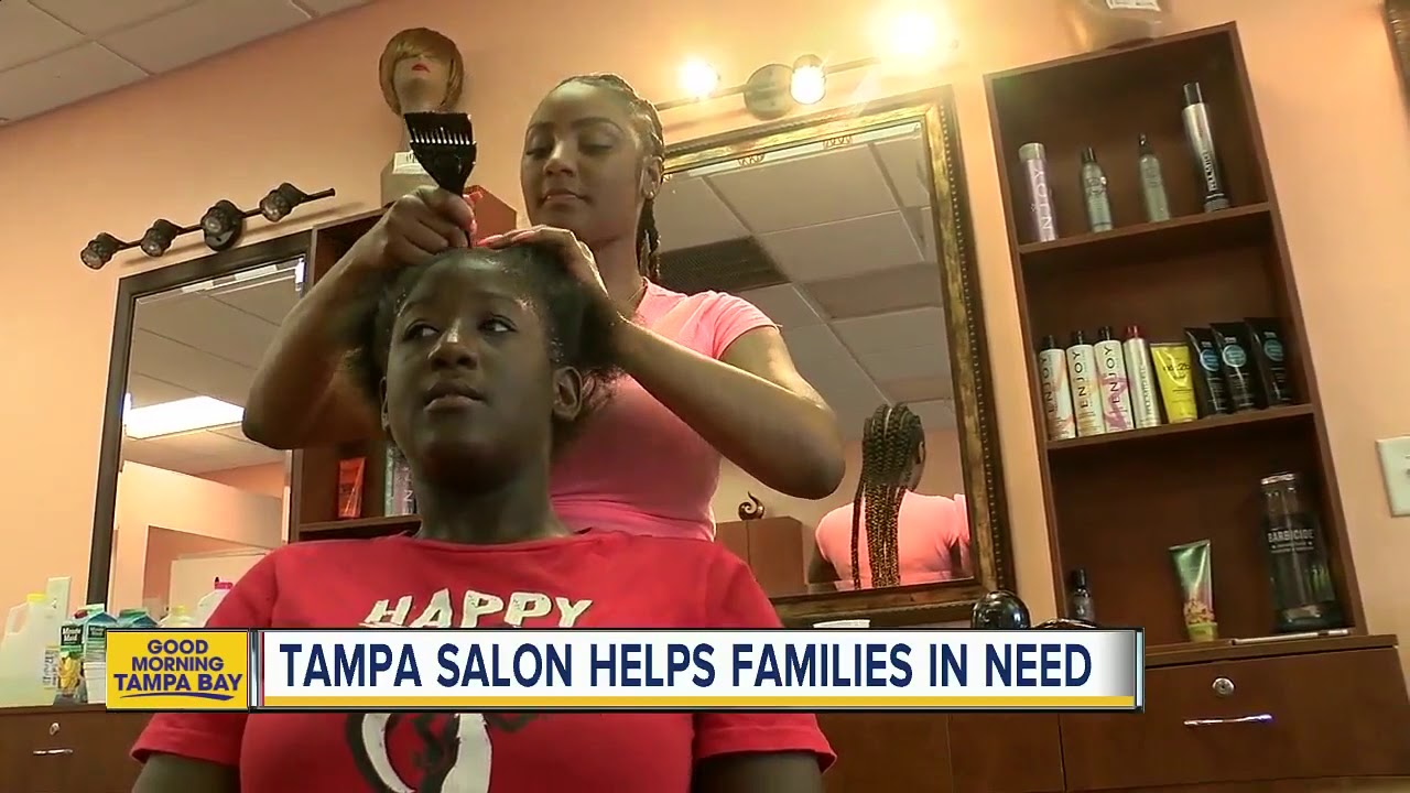 Tampa Beauty Salon Owner Helping Moms Kids In Need With Haircuts