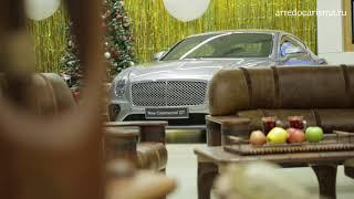 Пример креативного интерьера престижного офиса Авторская мебель в лаунж зоне салона  Bentley.<