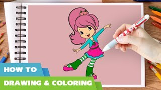 How to draw Strawberry Shortcake coloring pages I Videos for Children l Learn Colours