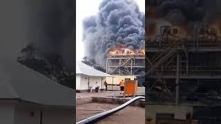 Province Lualaba: Les images de l'incendie de l'usine Comide Kisanfu