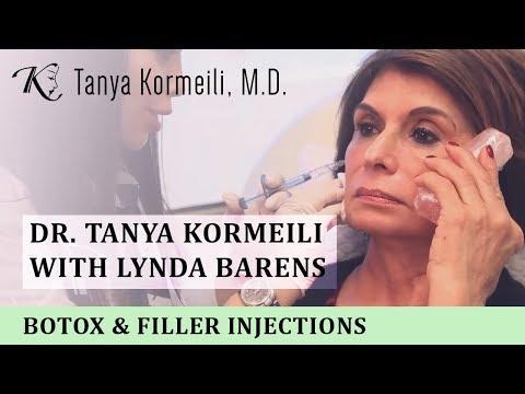 Dr Tanya Kormeili with Lynda Barens: Botox