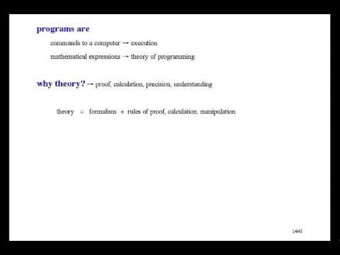 Formal Methods of Software Design - Introduction [0/33]