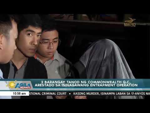 2 Barangay Tanod ng Commonwealth Q.C, arestado sa isinagawang entrapment operation