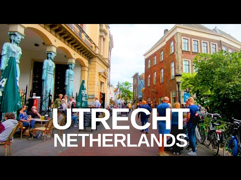 [4K] Virtual Tour of Utrecht, Netherlands - Relaxation Walking Tour with Natural Sounds (ASMR)