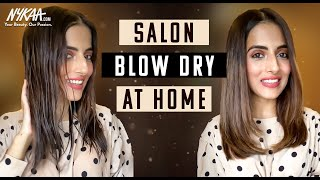 Salon Blow Dry At Home How to Get Perfect Hair Blowout At Home Ft Knot Me Pretty Nykaa
