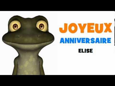 Joyeux Anniversaire Elise Youtube