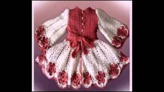 Замечательная вязаная крючком детская одежда