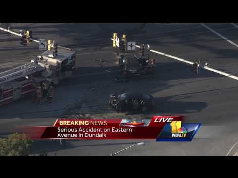 Video: Crash closes Eastern Avenue in Dundalk