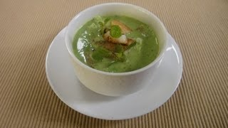 Cucumber Spinach Soup With Fennel Croutons | Sanjeev Kapoor Khazana