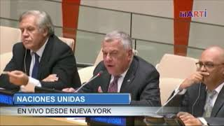 Delegación castrista realiza acto de repudio en Naciones Unidas