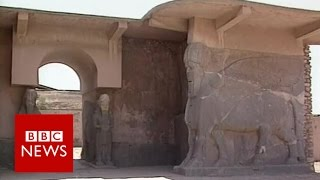Nimrud: Iraqi troops visit destroyed ancient city - BBC News