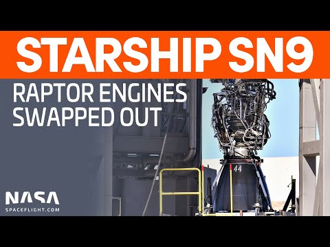 SpaceX Boca Chica - Starship SN9 undergoing Raptor Replacement Tasks