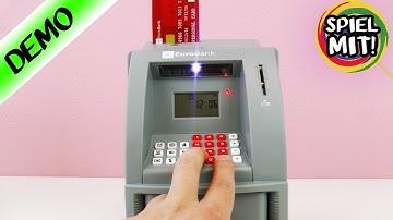 GELDAUTOMAT FÜR ZUHAUSE! Bank Automat Elektrische Spardose - Spiel mit mir Kinderspielzeug