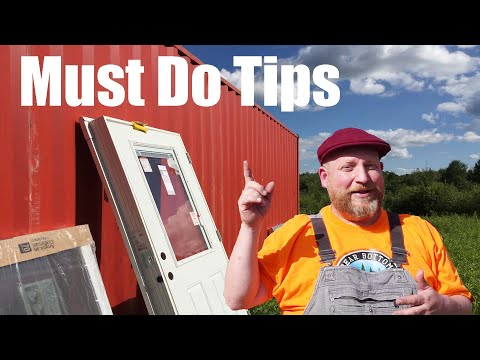 NO WELD Container Cabin Window Frames| I Wish They Would Have TOLD ME THIS | Bear Bottom Acres