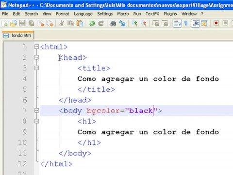 Cómo crear tu propia página web usando HTML : Cómo agregar color de ...