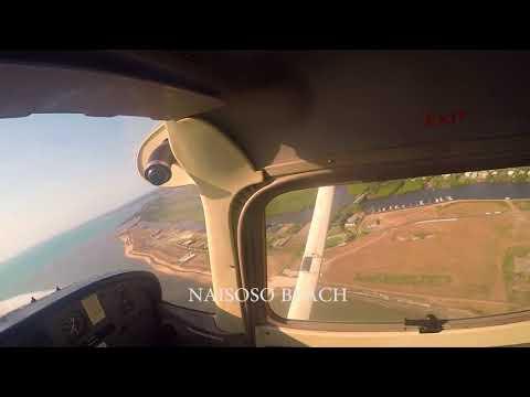 Pacific Flying school training Fiji-Savusavu 300 NM flight stroll..