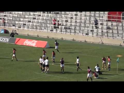Pool A Kazakhstan v HongKong Rio Olympic qualifying women's Seven's rugby tournament in Japan
