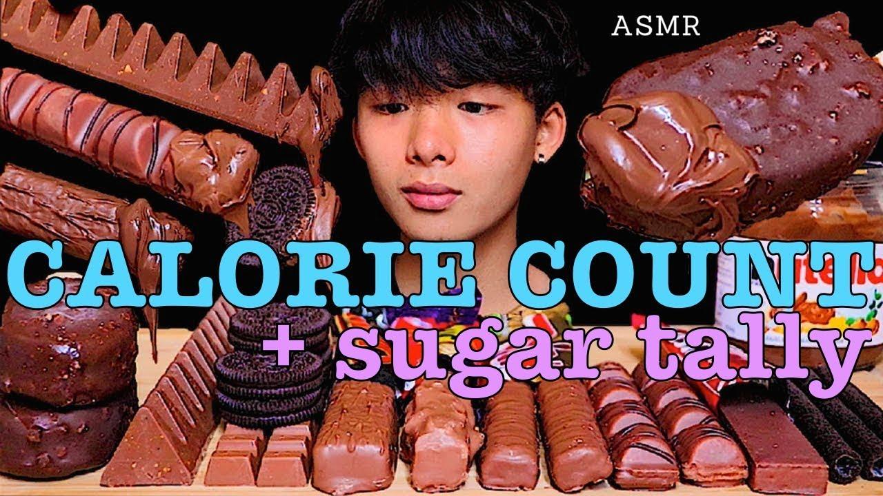 "CALORIE COUNT - MarASMR ""CHOCOLATE CANDY BARS (KINDER, TWIX, MARS) NUTELLA OREO ICECREAM먹방 朱古力零食 雪條"""