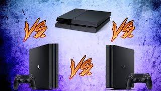 DIFERENCIAS   PS4  VS  PS4 SLIM  VS  PS4 PRO  