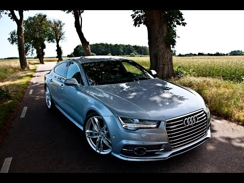 2017 Audi A7 3.0 BiTDI 320hp - Acceleration, walkaround, launch etc