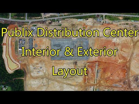 Future Publix Distribution Center - Interior & Exterior Layout - McLeansville, NC