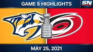 NHL Game Highlights   Predators vs. Hurricanes, Game 5 - May 25, 2021